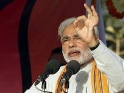 Mr. Modi giving a traditional occult salute